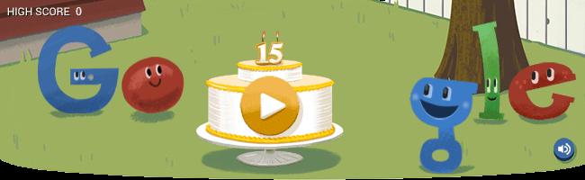 Aniversário Doodle Google Games