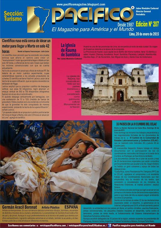 Revista Pacífico Nº 207 Turismo