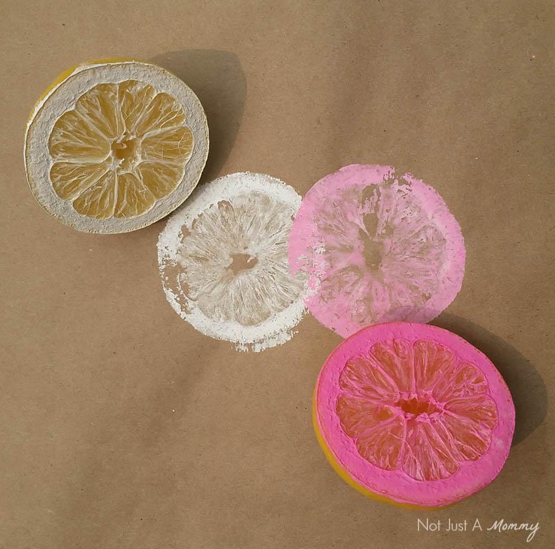 Lemon stamped table rubber; lemons