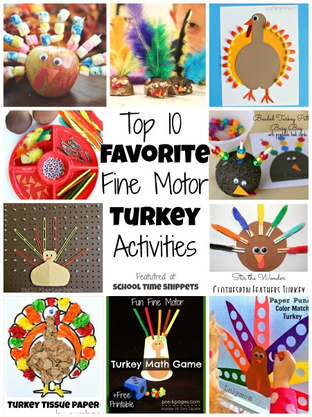 Top favorite fine motor turkey activities school time