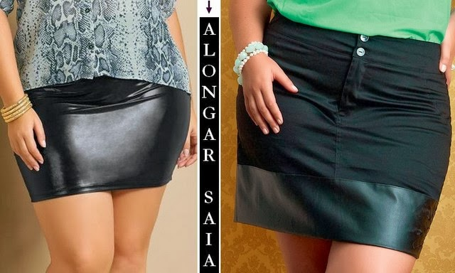 Aumentar a barra da saia curta sem parecer uma simples emenda