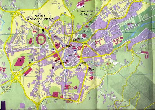 Mapa de Guimarães – Portugal