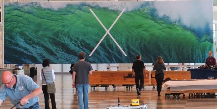 OS X Mavericks Banner at WWDC 2013