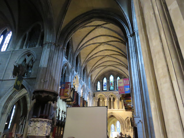 Inside St. Patrick's Cathedral in Dublin