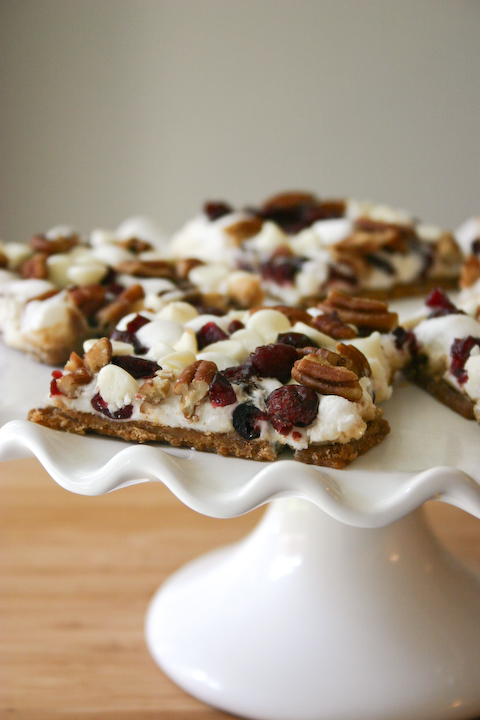 White Chocolate Cranberry S'mores Cracker Candy.
