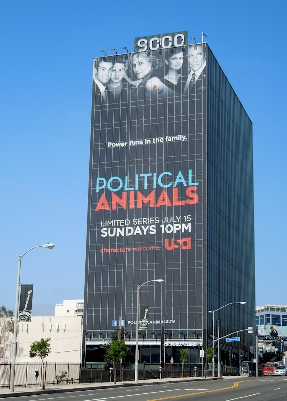 Political Animals billboard Sunset Strip
