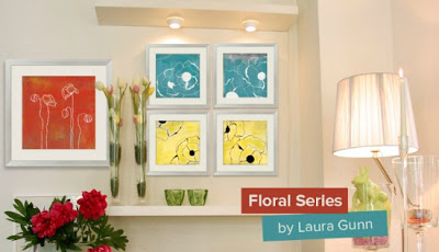 Gallery Direct, Twitter Party, Floral Series, Laura Gunn