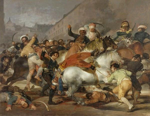 Cuadro de Goya: Carga de los mamelucos