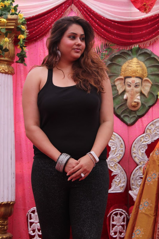 Namitha at JS Paradise Family Marriage Hall Launch Stills cleavage