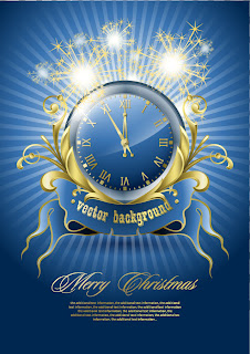 新年を祝う時計の背景 New year clock vector
