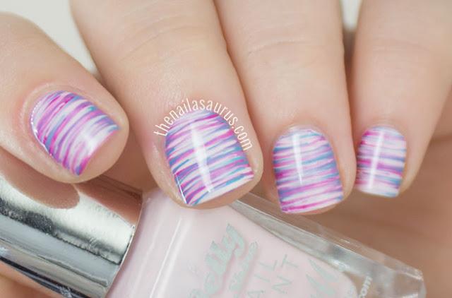http://www.thenailasaurus.com/2015/04/purple-fan-brush-nail-art.html