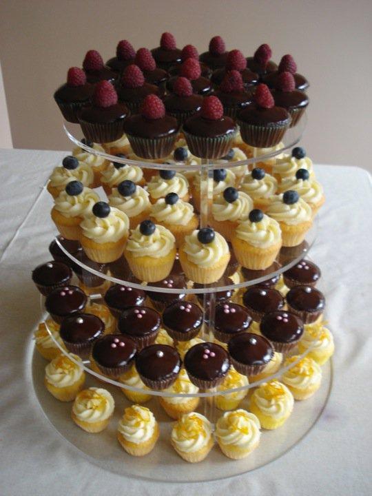 Cupcakes sur présentoire