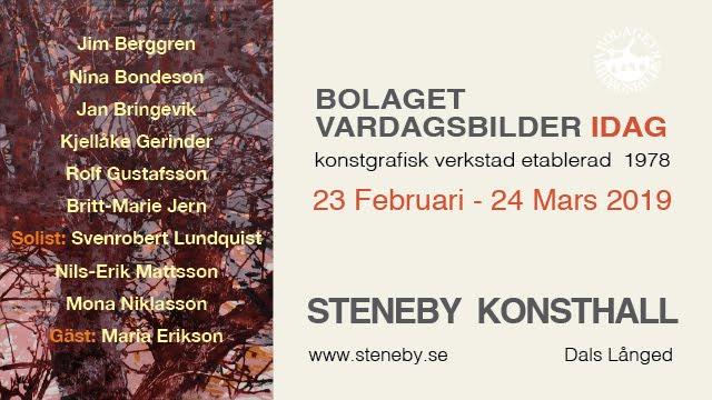 Bolaget Vardagsbilder på Steneby Konsthall Våren 2019