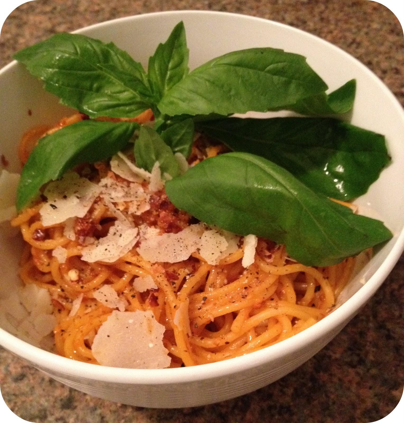 Recipe aligue pasta
