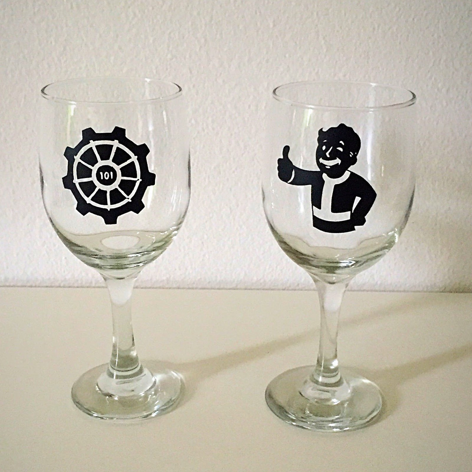 Gingerbean Designs Vinyl Cricut Wine Glasses