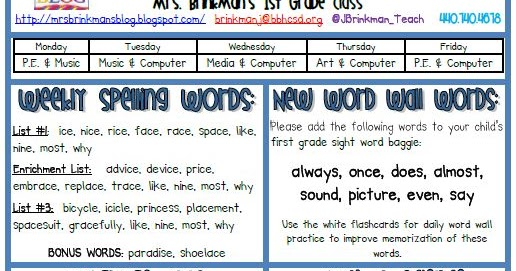 Mrs brinkmans blog april 8 2013 classroom newsletter publicscrutiny Image collections