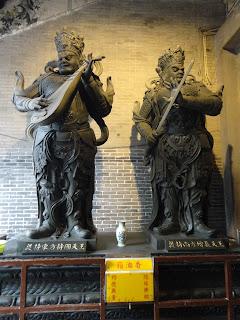 Kuan Tai y Cangjie en el templo Lin Fung de Macao