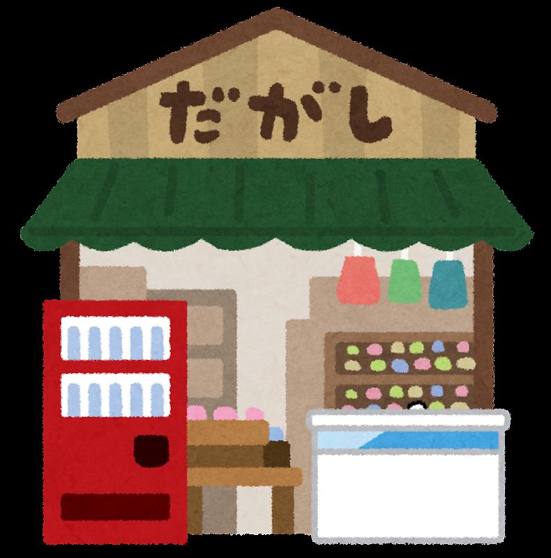 年賀状 2015 年賀状 フレーム 無料 : 駄菓子屋のイラスト | かわいい ...