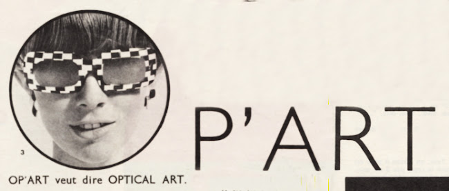 Op' Art 1966 glasses 60s 1960 mod black white Optical Prisunic