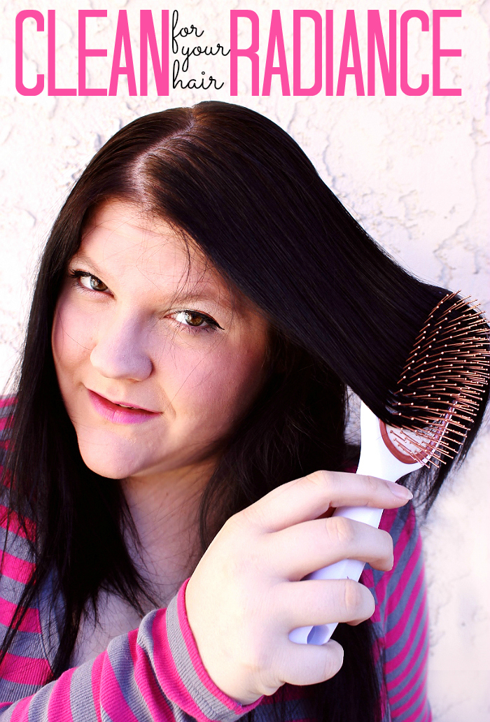 The Goody® Clean Radiance™ paddle brush features copper bristles to naturally reduce buildup in hair over time. Also, try our Avocado, Honey, Cocout Hair Mask! (ad) #CleanRadiance