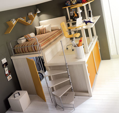 loft bed small space trundle office