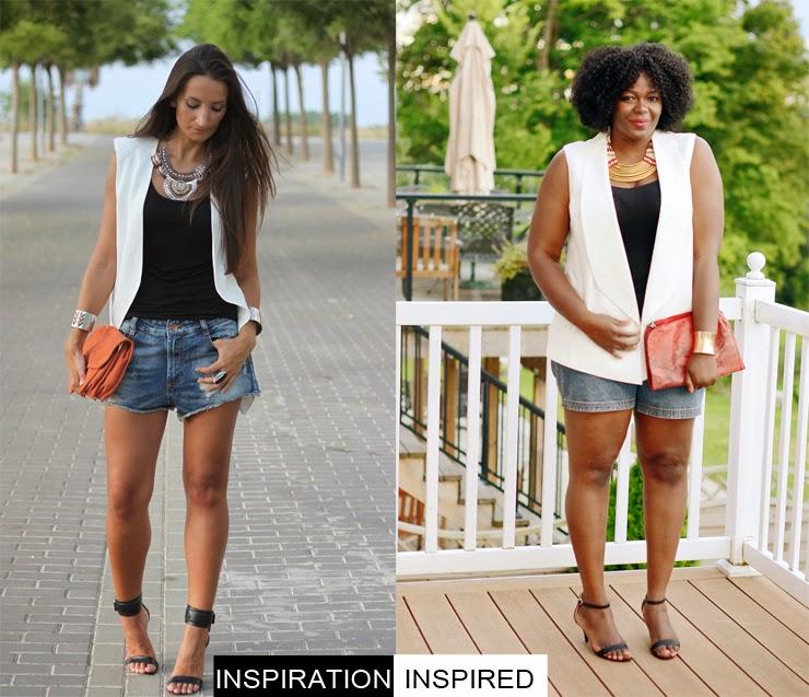 Style me Friday: how to wear denim cutoffs plus size