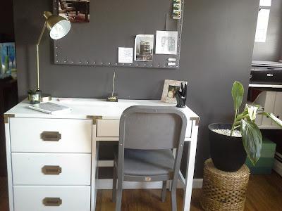 white campaign furniture desk
