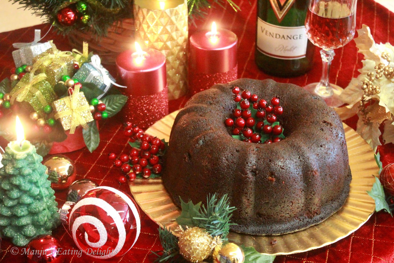 Rum Soaked Fruit Christmas Cake
