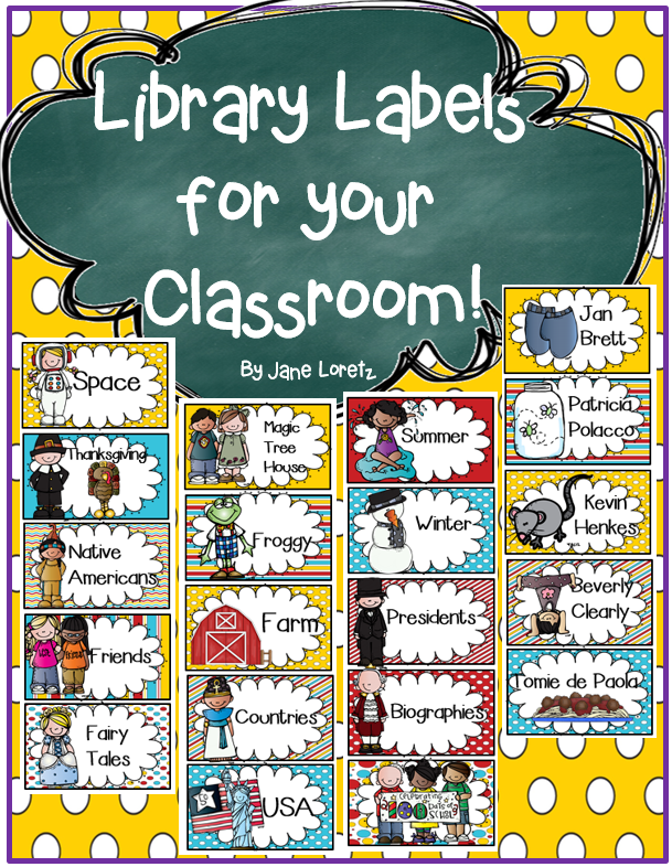 Classroom Labeling Ideas ~ Avery template