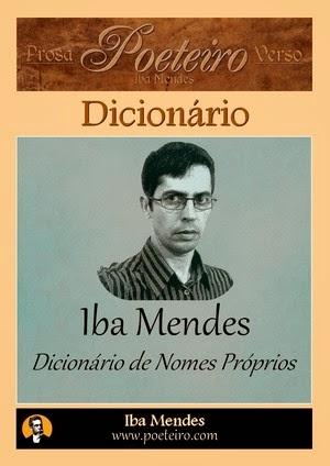 Dicionário de Nomes Próprios, de Iba Mendes