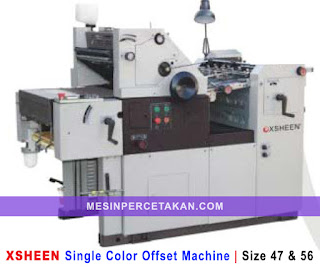 XSHEEN Single Color Offset Machine | Siza 47 & 56