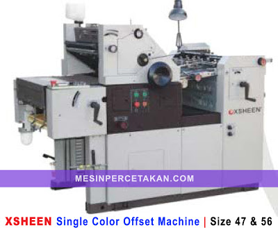 XSHEEN Single Color Offset Machine | Siza 47 - 56 - 62 cm