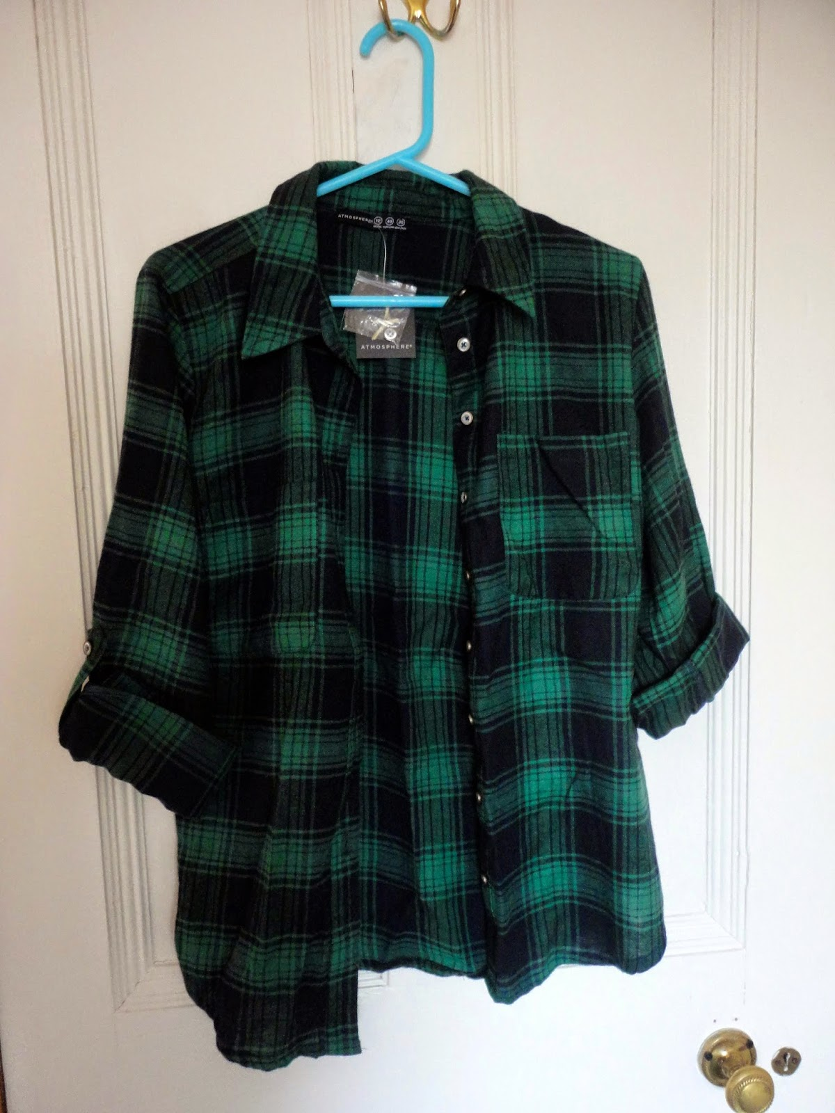 Primark green checked shirt