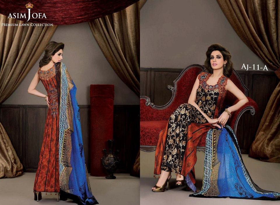 Asim Jofa Premium lawn Collection 2013