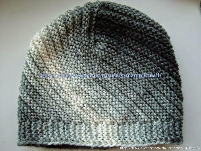 Gorro tejido con dos agujas punto santa Clara | Crochet y Dos ...