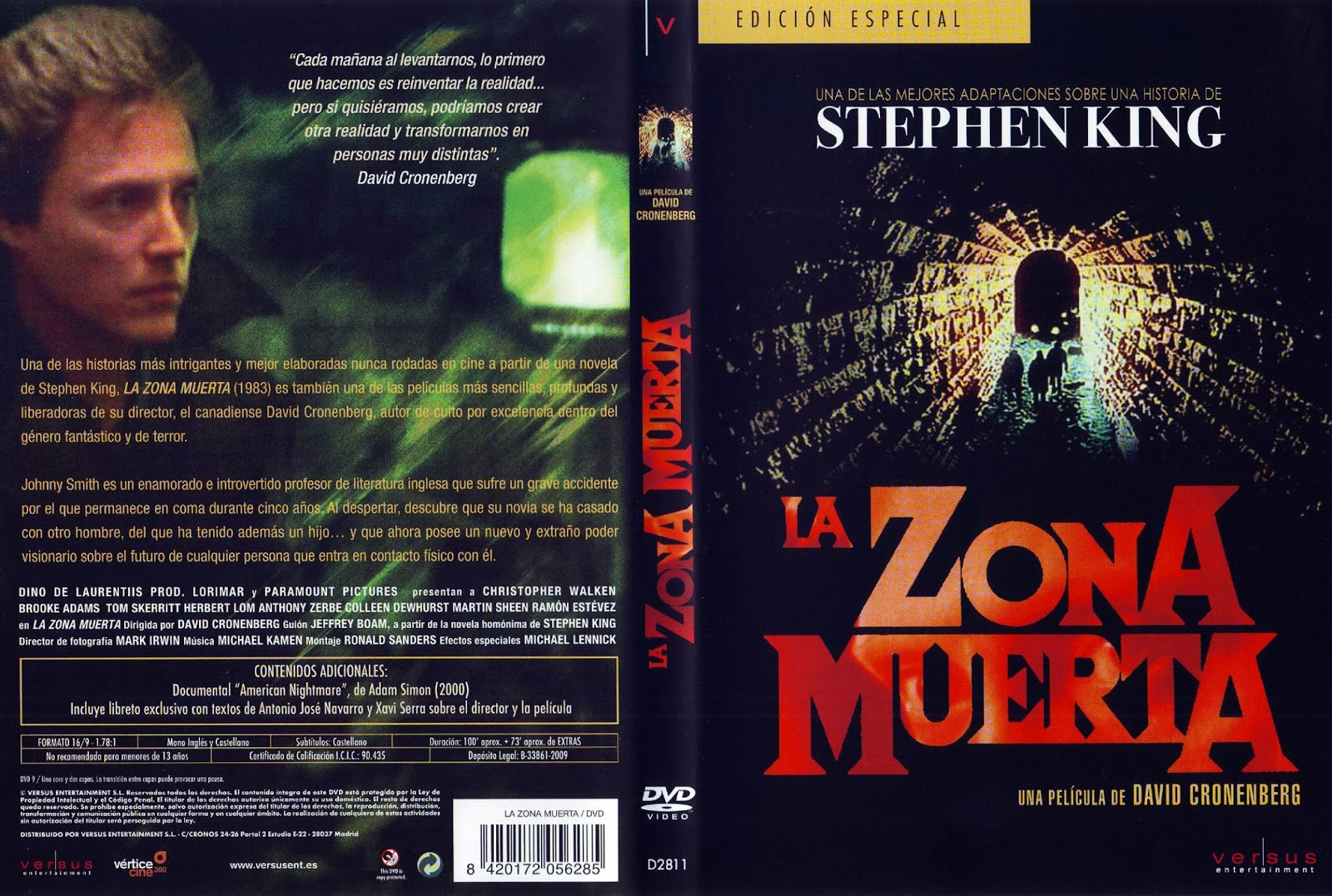 La Zona Muerta (The Dead Zone) Hdrip Castellano 1983