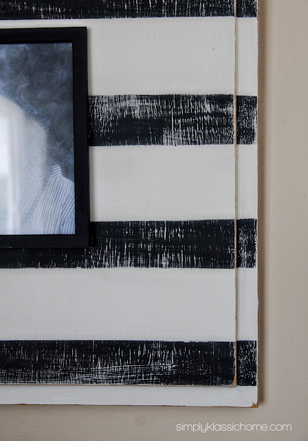 DIY Striped Picture Frame