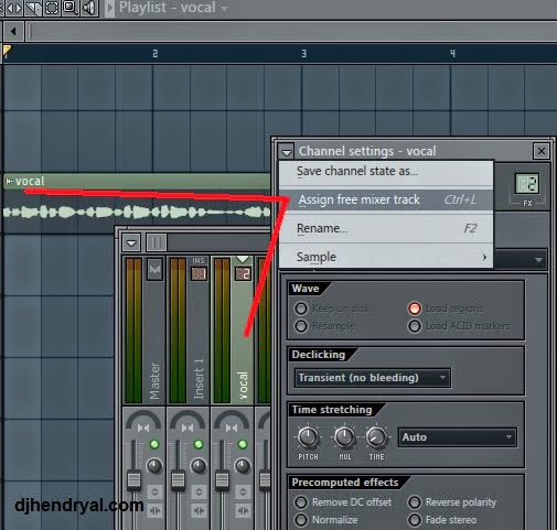Cara seting channel ke mixer Fl studio