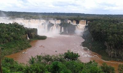 Cataratas do Iguaçu a partir dos mirantes do Parque Nacional do Iguaçu