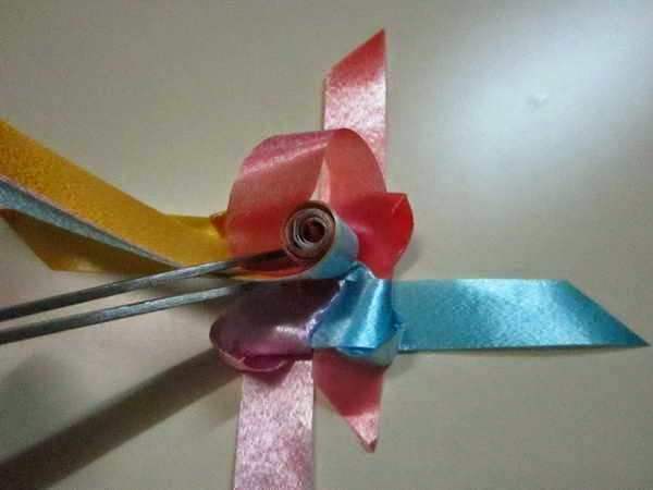 diy How to weave rose ribbon Come tessere nastro rosa