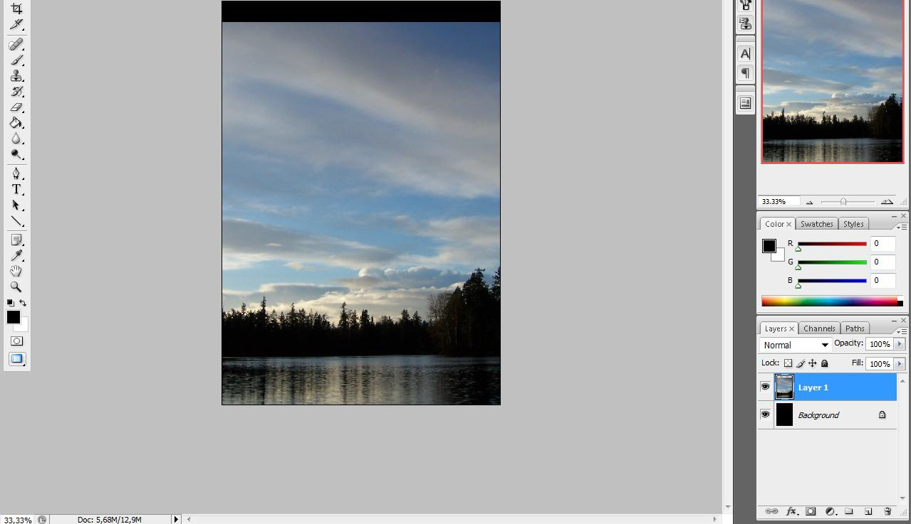 Pada layer 1, pilih menu bar pilih menu Image =>Adjustment ...