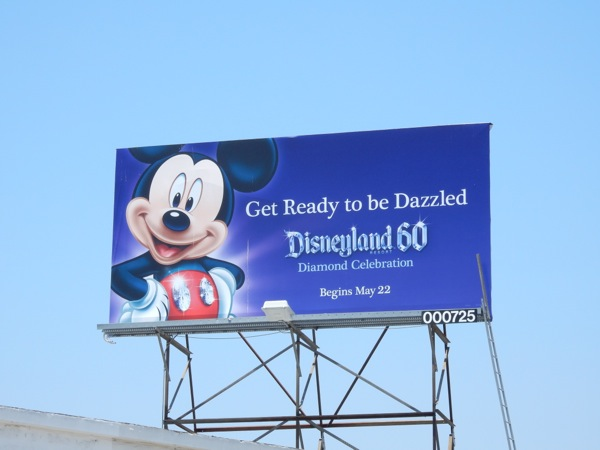 Disneyland 60 Mickey Mouse billboard