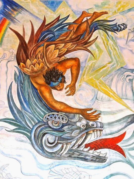 Jim carole 39 s mexico adventure aguascalientes part 3 for Mural quetzalcoatl