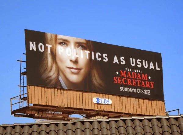 Madam Secretary series premiere billboard
