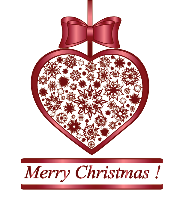 Maroon heart for Christmas