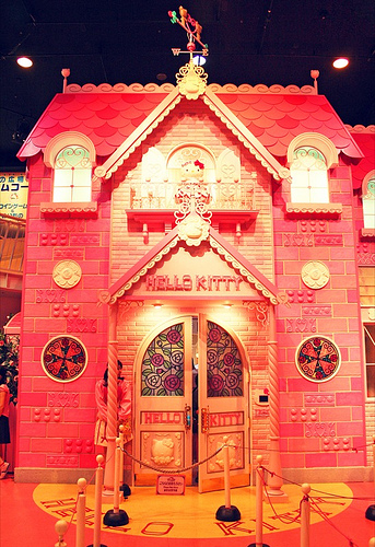 Hello Kitty house building