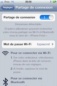 Configurez votre iPhone en modem pour accéder à internet depuis votre ordinateur en utilisant la connexion 3G de l'iPhone.
