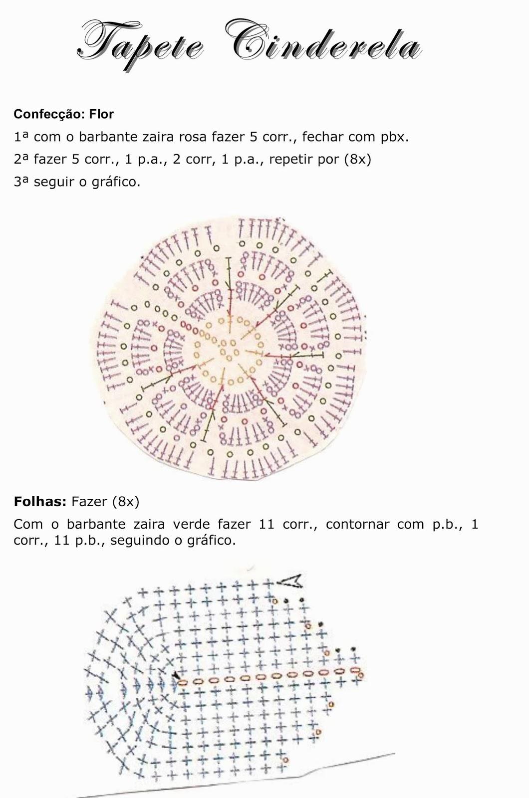 Вязаные коврики для детской схемы 94