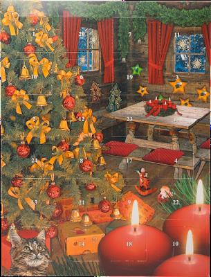 Confiserie Klein Adventskalender mit Pralinen Weihnachtsstube