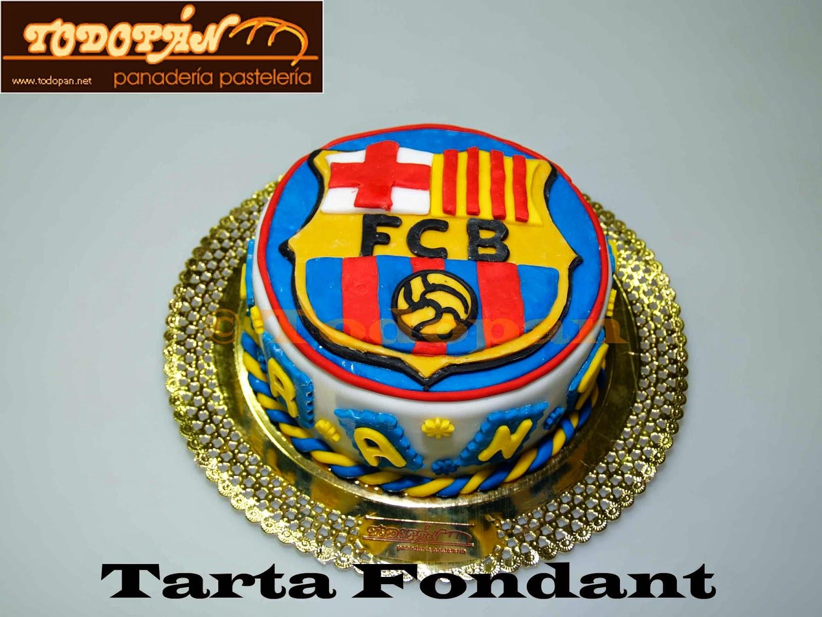 Tarta Fondant F:C. Barcelona